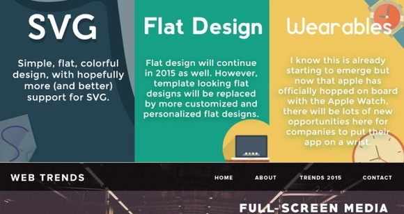 fresh creative web design infographics 2015