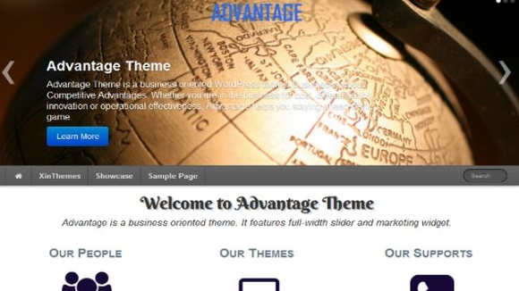 Advantage Bootstrap template