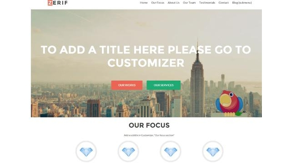 Zerif Lite - Free Business WordPress Themes 2016