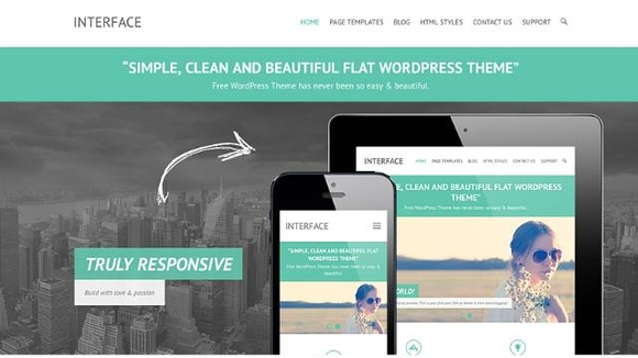 Interface - Free business wordpress themes