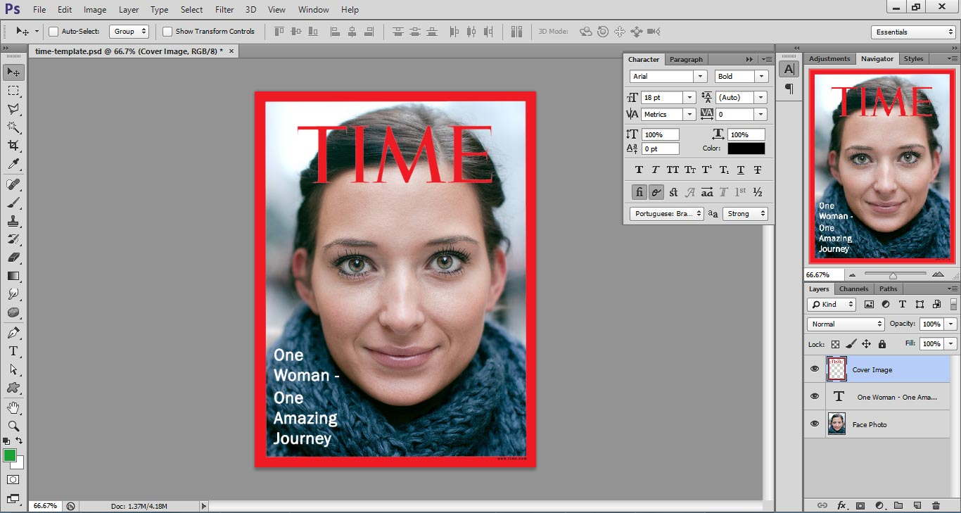 time magazine template word