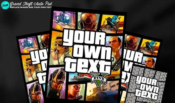 Grand Theft Auto Cover Psd - 15 Free PSD Flyer Templates 2016