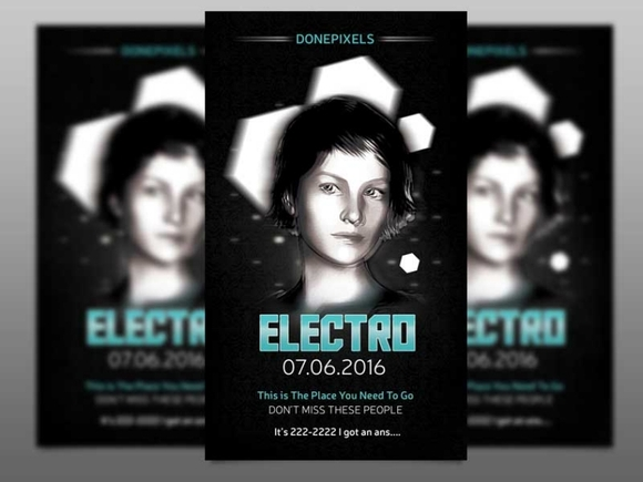 Electro – Free Flyer Template