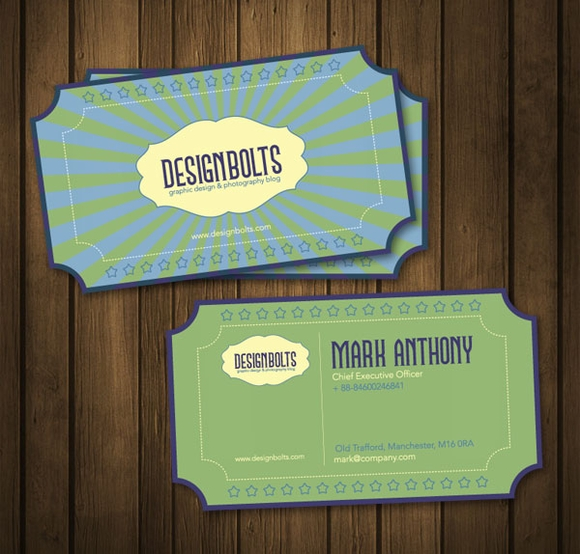 Beautiful Free Retro Business Card Design