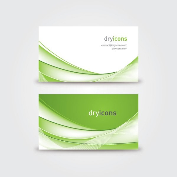Wavy Business Card Vector Graphic