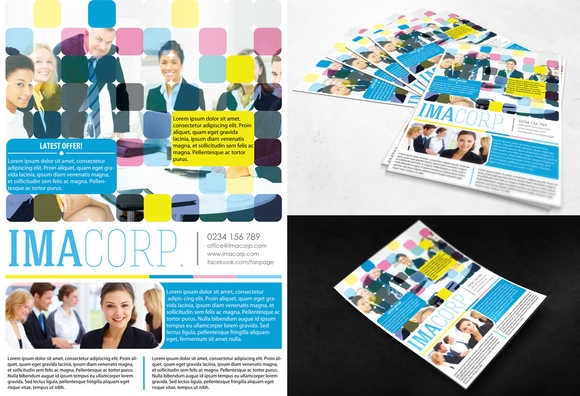 Colorful Corporate Flyer - 15 Free PSD Flyer Templates 2016