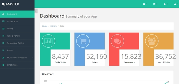 Master Bootstrap HTML5 Admin Template