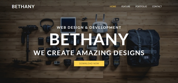 bethany - free bootstrap website templates