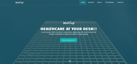 medilap - free bootstrap html5 medical template 2016