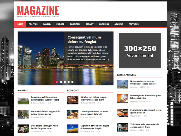 blog free magazine wordpress themes