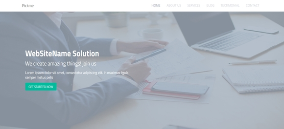 pickme free bootstrap html5 template