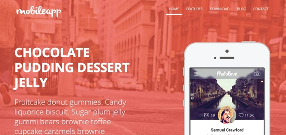 Mobileapp - Best Free Bootstrap Templates 2016