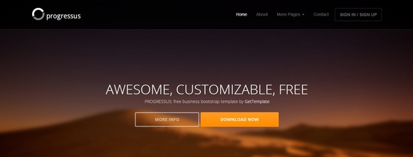 Progressus - Best Bootstrap Templates 2016