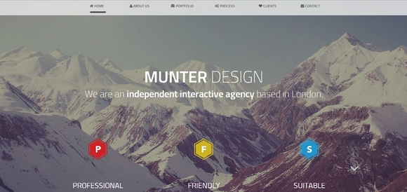 Munter - Best free bootstrap templates 2016