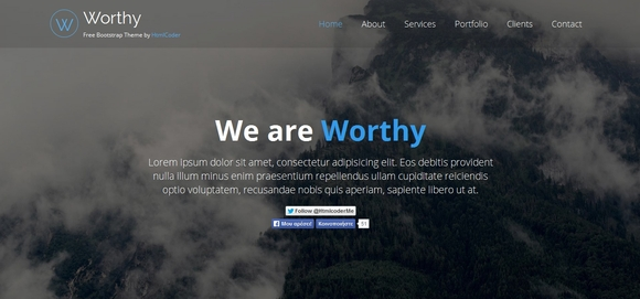 Worthy - Best Free Bootstrap Website Templates 2016