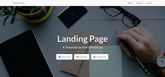 Landing Page - best free bootstrap website templates 2016
