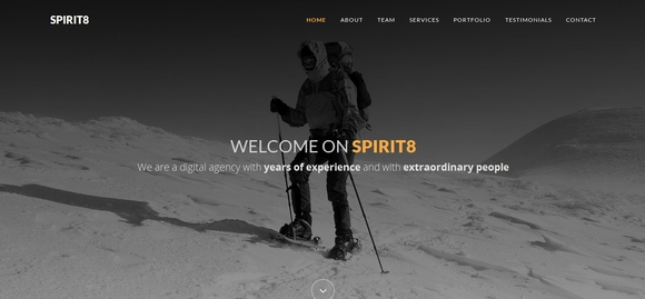 Spirit8 - Best Bootstrap Website Templates 2016