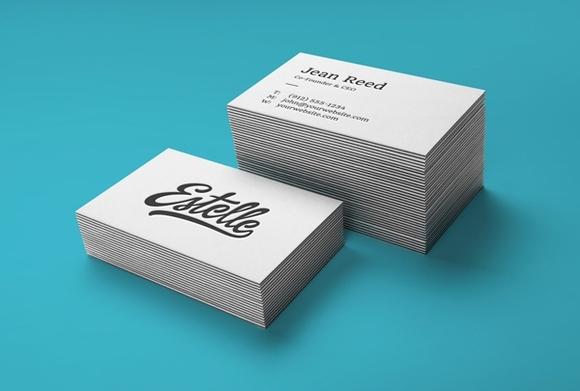 Stack Letterpress Business Card