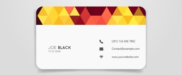 Triangle business card