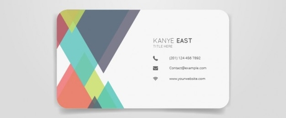 Abstract colour business card