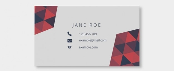 Business card with triangles mosaic