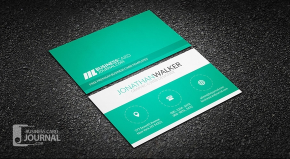 Clean & Minimal Creative Free Business Card Templates 2016