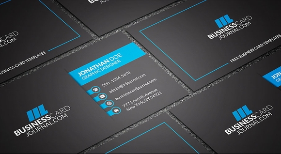 Dark & Bold Corporate Printable Business Card Templates 2016