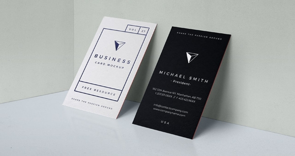 Best Free Business Card Templates Webdesignlike - Business card vertical template
