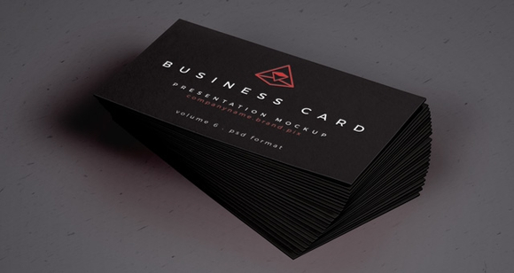 Black Business Card Mock-Up - Printable business card templates