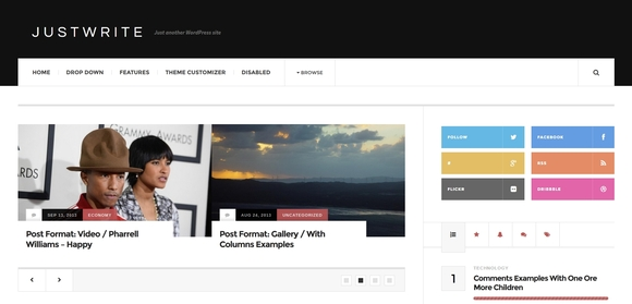 Justwrite - Responsive free wordpress themes 2016