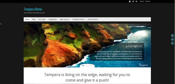 Tempera - Best wordpress themes 2016
