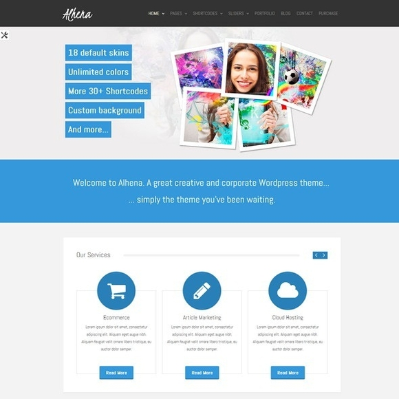 Alhena Lite - Best Free WordPress Themes 2016