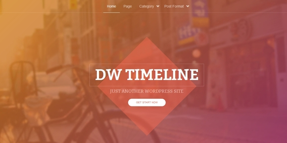 DW Timeline - Best Free wordpress themes 2016