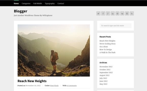 Blogger - Best WordPress Themes 2016