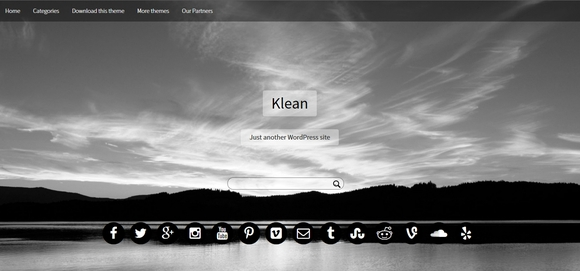 Klean - Best free wordpress themes 2016