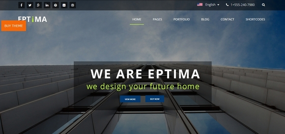 Eptima Lite - Best Free WordPress Themes 2016