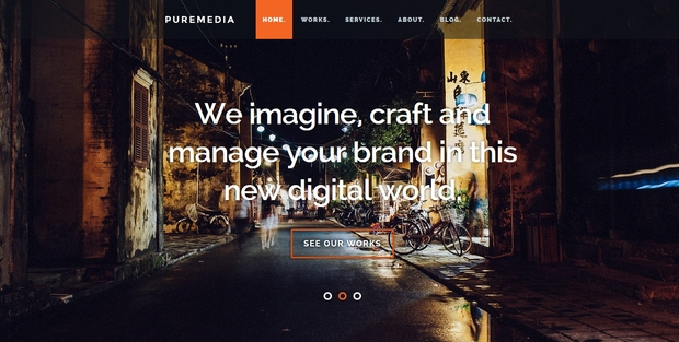 Puremedia - Best Free Website Templates 2016