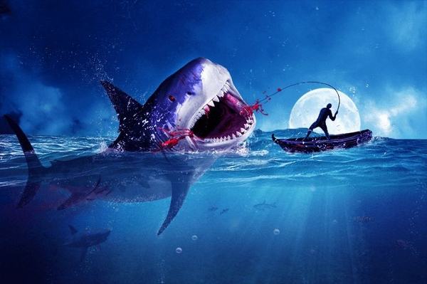 Amazing Surreal Shark Photoshop Tutorial - 20 Creative Photo Manipulation Tutorials 2016