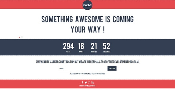 Ouch Under construction website template