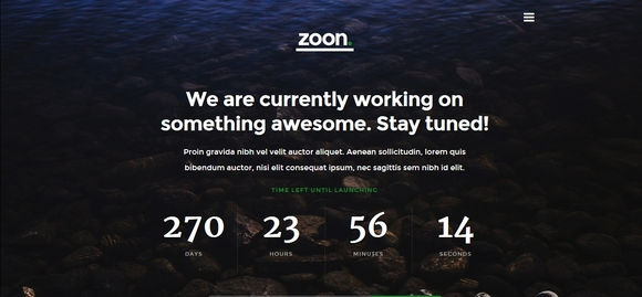Zoon - best free coming soon pages 2016