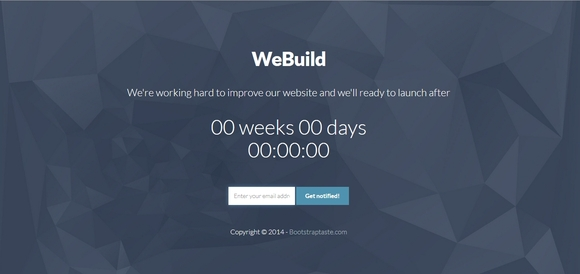 WeBuild - best free coming soon pages 2016